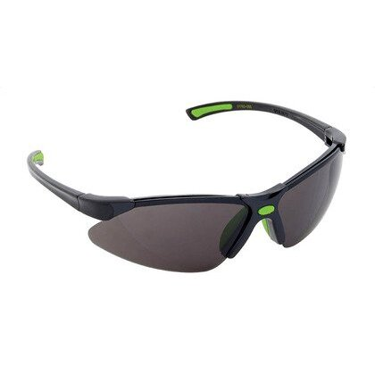 Safety Glasses, Half Frame, Two Tone, Smoke *** Discontinued ***