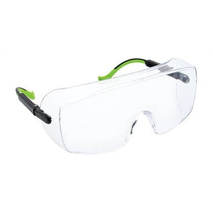 Safety Glasses, Over-Wrap, Clear
