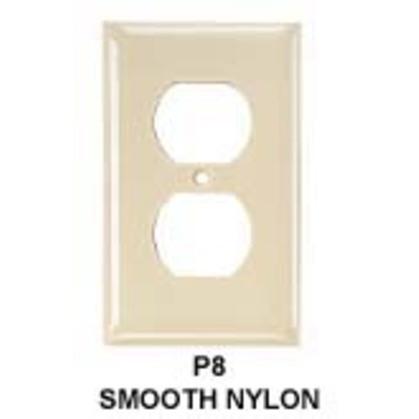 Non-metallic Plates, 1-gang, 1) Duplex Opening, standard, Brown