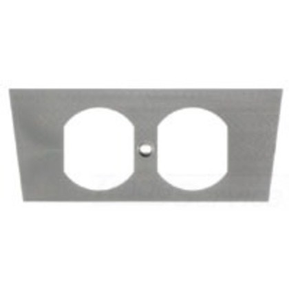 Floor Box Cover Face Plate, 1-Gang, Type: Duplex, Metallic *** Discontinued ***