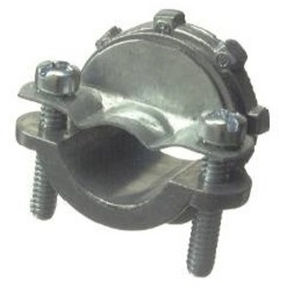 """NM Cable Connector, Type: 2-Screw Clamp, 3/8"""", Zinc Die Cast"""