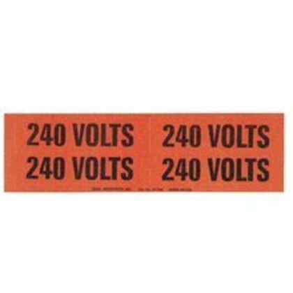 Voltage Marker, Vinyl, 240V