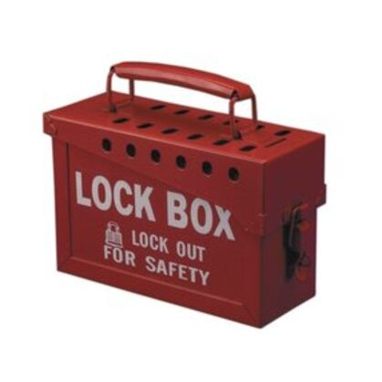 "Group Lock Box, Steel, 10"" x 4"" x 6"""