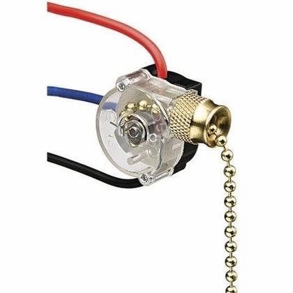 3-Speed Pull Chain, Brass