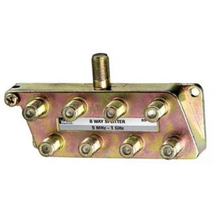 Splitter, 8-Way, Video, 5 MHz - 1 GHz, Screw Mount *** Discontinued ***