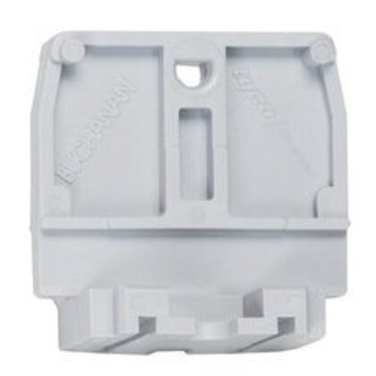 Terminal Block, End Section, Gray, Direct Mount, 50A, 600V *** Discontinued ***
