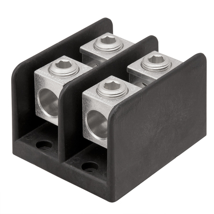 Connector Block, 3-Pole, Line - (2) 4 AWG - 500 MCM, Load - (4) 6 - 4/0 AWG