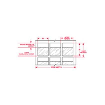 Label,THT,B427,1x1.437,Clr/Wht,2500/RL