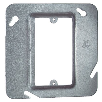 """4-11/16"""" Square Cover, 1-Device, Mud Ring, 3/4"""" Raised, Drawn"""