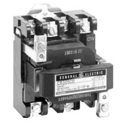 Contactor, NEMA Size 1, 30A, 115-120VAC Coil, Open, 1P, 600VAC