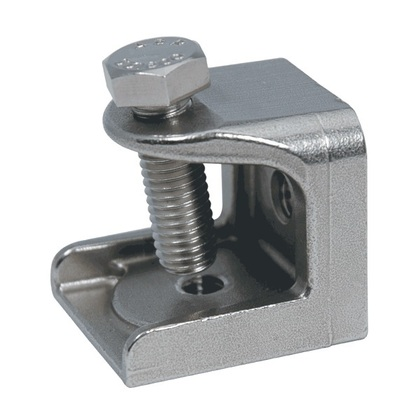 """Beam Clamp, Size: 3/8"""", Material: Stainless Steel"""