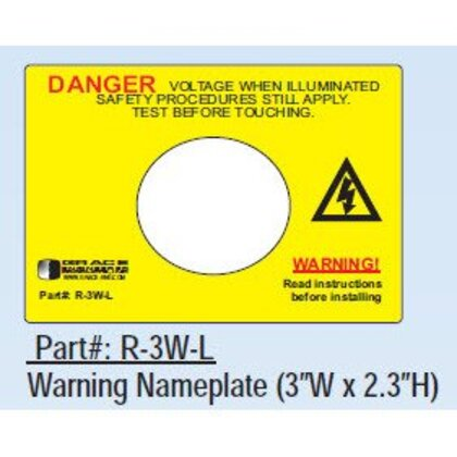 Voltage Indicator, Warning Label, Adhesive Backed, for R-3W