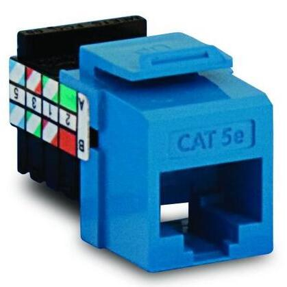 Snap-In Connector, QuickPort, CAT 5e, Blue