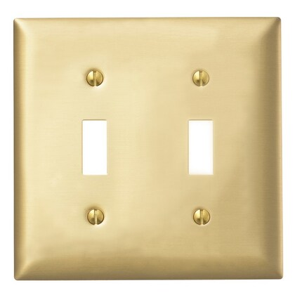 WALLPLATE 2-G, TOG OPENING, BRS