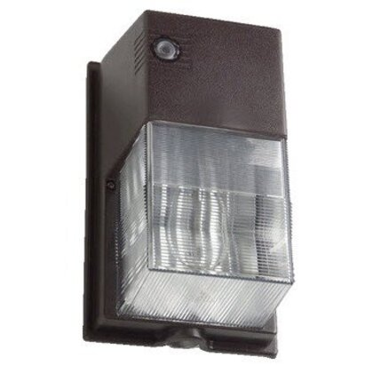 Wallpack, High Pressure Sodium, 1 Light, 50W, 120V, Bronze