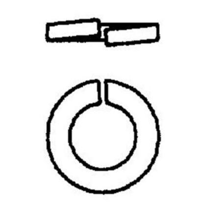 "Split Lock Washer, Steel, Electro-Galvanized, 3/8"""