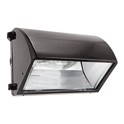 Wallpack, PS Metal Halide, 1 Light, 150W, 120-277V, Bronze