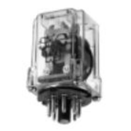 Relay, Ice Cube, 8-Pin, 1PDT Contacts, 120VAC Coil, Enclosed