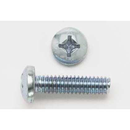 "Machine Screw, Pan Head, Phillips, 1/4"" x 1-1/2"", Zinc Plated Steel"