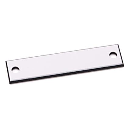 Custom Engraved Nameplate, 30MM,White, Plastic, Standard, 800H