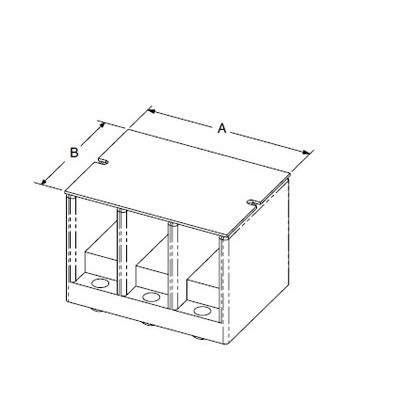 """Power Block, Cover, Clear, 4"""" x 2.25"""", for 140 Series"""