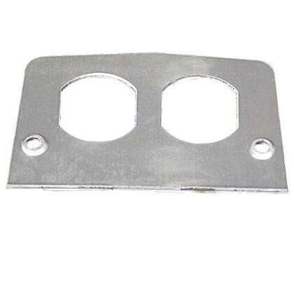 Service Box Plate, Metallic, Type: Duplex Receptacle