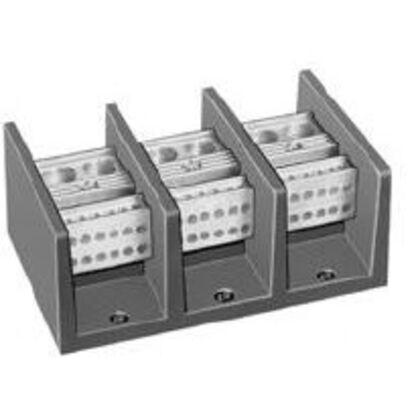 Power Distribution Block, 3P, 760A, 600VAC, 2 Main/12 Branch