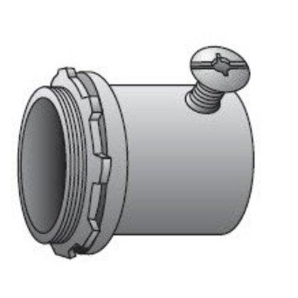 "EMT Set Screw Connector, 3/4"", Insulated, Steel"
