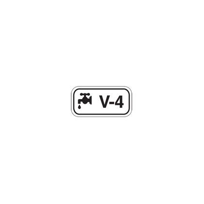 "B401 1.5""X3"" BLK/WHT ENERGY TAGS 5/PK"