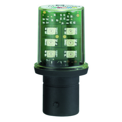 Miniature LED Lamp, Indicator, 120VAC, White, Protected, Bayonet