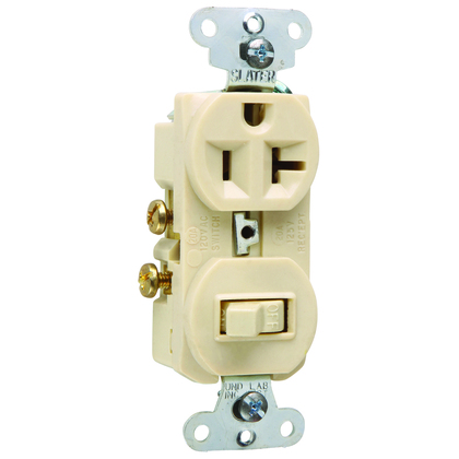 COMBO 20A 1SWITCH 1P-20A 1RECP 120V