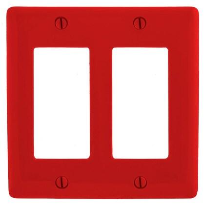 Decora Wallplate, 2-Gang, Nylon, Red