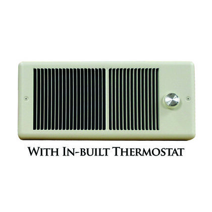 1500W 240V Wall Heater, Ivory, w/2P stat