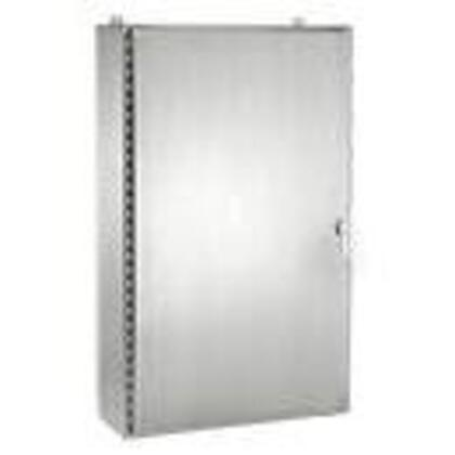 """Enclosure, NEMA 4X, Hinged Cover, Stainless Steel, 48"""" x 36"""" x 16"""""""