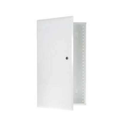 """20"""" Enclosure with Hinged Door, White"""