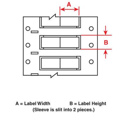Wire Mkr,THT,B342,1x1,Wht,500 EA/RL