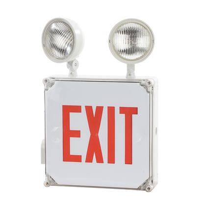 LED Exit Lgt 120/277V Red 2Lgt's Bat Wet