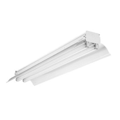 "Industrial Fluorescent Light, 4-Lamp, 96"", 32W, 12/277V"