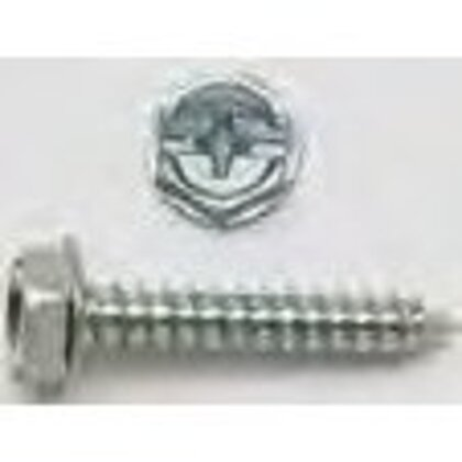 """Tapping Screw, Hex Washer Head, 10 x 3/4"""""""