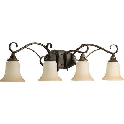 4-Lt. Forged Bronze Bath Light *** Discontinued ***