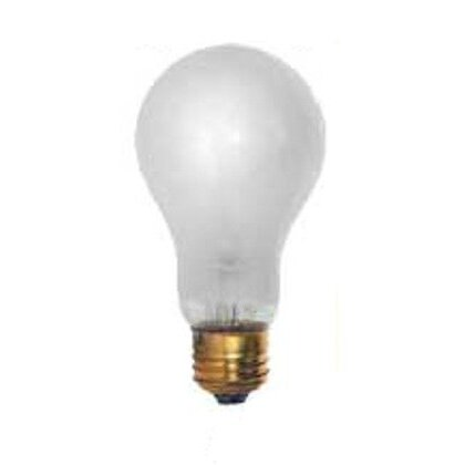 Incandescent Bulb, Rough Service, A21, 150W, 130V, Frosted