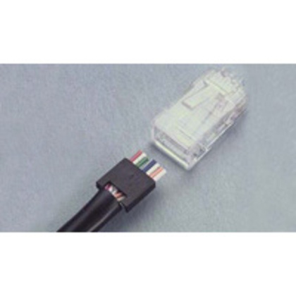 Modular Jack Plug, 8-Position, Round, Solid, 24 - 28 AWG, Cat 5E *** Discontinued ***