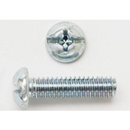 "Round Head Machine Screw, Slot/Phillips Combo, 3/8"" x 1-1/2"""