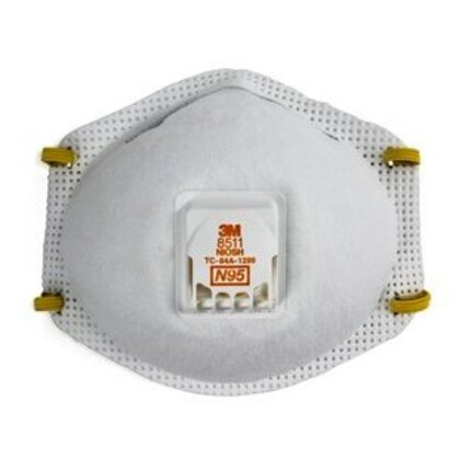 Particulate Respirator, Cool Flow™ Valve Technology, White *** Discontinued ***
