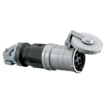 Pin & Sleeve Connector, 100A, 600V, 3P4W, Style 1, Gray/Black