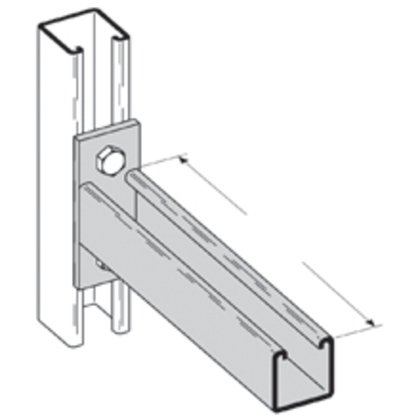 SINGLE CHANNEL BRACKET, 9-IN., ZINC PLATED