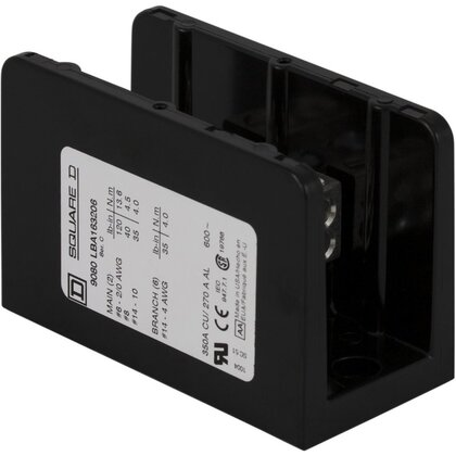 Power Distribution Block, 1-Pole, 350A, 14 - 2/0 AWG