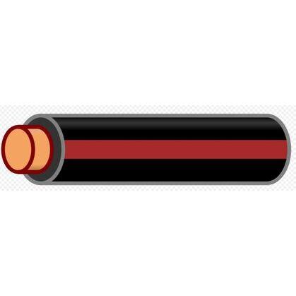 12 AWG THHN Stranded Copper, Black/Brown Stripe, 500'