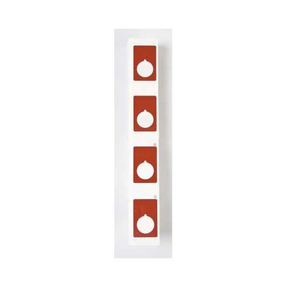 "Raised Panel Push Button Label, 1.9"" x 1.2"", Red"