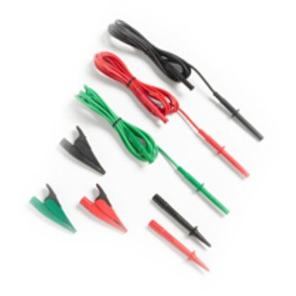 Test Lead Set W/alligator Clips Red/blk/grn